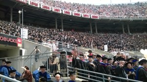 Looking into the Stands at the 2015 Commencement