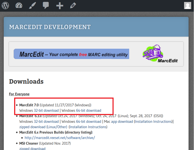 MarcEdit 7 is Here! – Terry's Worklog